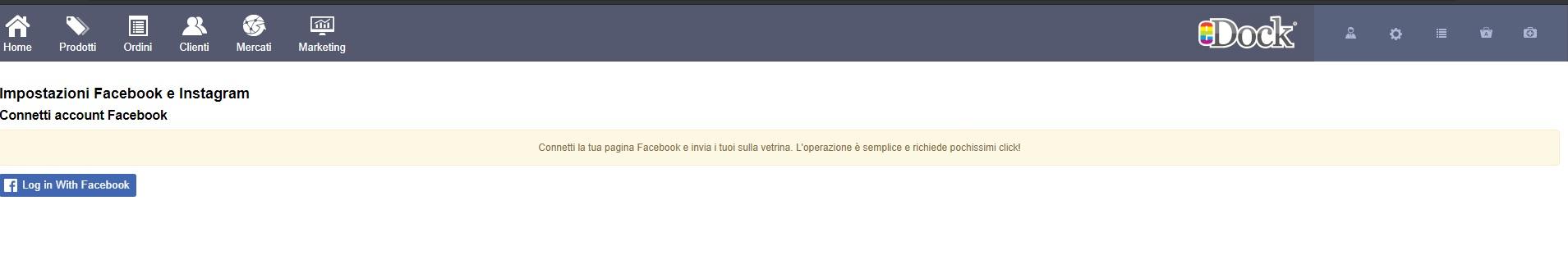 impostazione facebook opc
